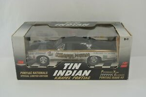 Ertl Collectibles Tin Indian Knafel Pontiac Diecast Car Limited Edition 1:18