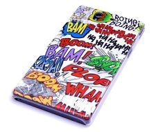 Funda f Sony Xperia Z l36h bolso funda cover case estuche cómic boom Action