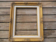"""Vintage Gold Wood Picture Frame 16"""" x 19"""" fits 11"""" by 14"""""""