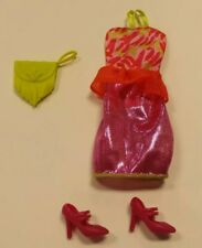 Barbie Fashionistas Outfit Pink Sparkle Dress shoes clothes purse curvy petite