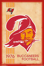 NFL Heritage Series TAMPA BAY BUCCANEERS 1976-STYLE Official Wall POSTER