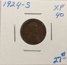 1924-S Lincoln Wheat Cent In XF Condition