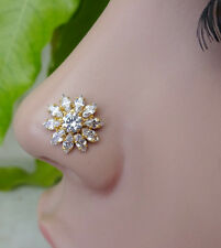 Gold Nose Ring Mandala Nose Stud Piercing Nose 18g Moon Nose Stud Sun Nose Stud.