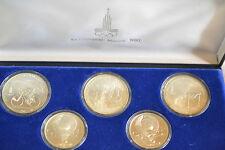 Olympiade 1980 - Münzen Moskau - Silber 900 - 3 x 10 Rubel und 2 x 5 Rubel