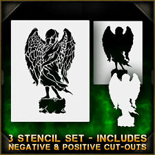 Angel Statue 2 - Airbrush Stencil Template Airsick Zombies