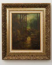 """Vintage Landscape Forest Painting Signed Lengenfelder Ornate Frame 21.25"""" x 18"""""""