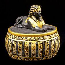 Égyptien Boîtes à Bijoux - Sphinx Figurine Egypte Déco Noir-Or