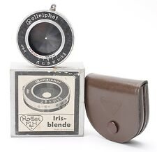 ROLLEI ROLLEIPHOT IRIS-BLENDE WITH LEATHER CASE, ORIGINAL BOX