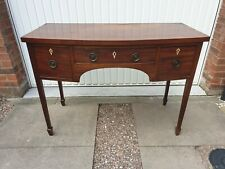 More details for antique georgian bowfront writing desk sideboard side table mahogany drawers