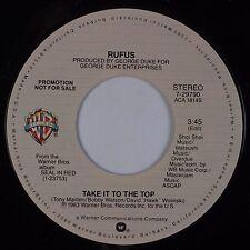 RUFUS: Take it to the Top USA WB '83 Electronic Disco Funk 45 PROMO NM-