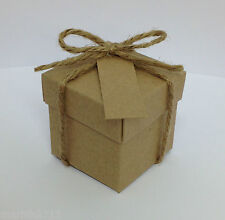 50 VINTAGE/SHABBY CHIC FAVOUR BOXES WITH LID'S+FREE TAGS