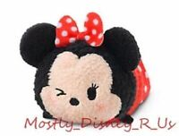 New Disney Store Minnie Mouse Tsum Tsum Plush 3.5 Mini Toy Doll Expressions Wink