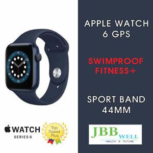Apple Watch Series 6 44mm Blue Aluminum Case with Deep Navy Sport Band - GPS