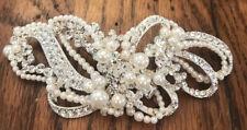 White Pearl And Rhinestone Wedding Hair Piece