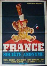 FRANCE SOCIETE ANONYME 1970 Italian 2F movie poster 39x55 YVES BOISSET 1974 NM
