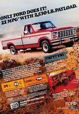 1981 Ford F-150 Pickup Truck Original Advertisement Print Art Car Ad A98