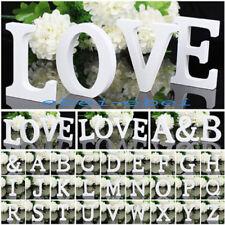 Freestanding Wood White Letters Alphabet Bridal Wedding Party Decoration A-Z