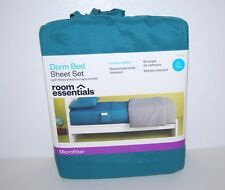 Sheet Set Twin XL Dorm Bed Fitted And Flat Sheets Pillowcase Microfiber College