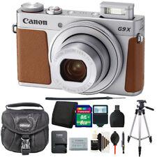 Canon Powershot G9 X Mark II Digital Camera Silver with 8GB Accessory Kit