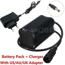 4.2V 4200mAh Li-Ion 18650 Battery Pack & Charger For Bicycle Headlamp Torch Lamp