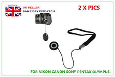 2 x Lens Cover Cap Keeper Holder For Nikon Canon Sony Pentax Fujifilm Panasonic
