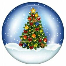 Snowy Sky Merry Christmas Tree 20mm Snap Button Charm For Ginger Snaps  Jewelry