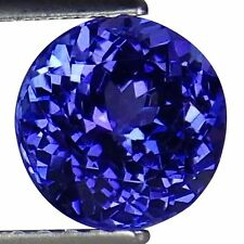 1.56 Ct IGI Certified AA Natural D Block Tanzanite Blue Violet Color Round Cut