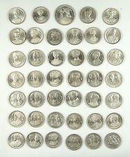 Thailand 2 Baht Commemorative Coin,Complete Set of 41 Pieces,King Rama IX,Seldom