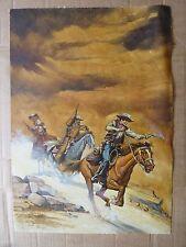 Western HIT Titelbild Originalzeichnung Bastei Zeichner: Ergul Necat ? Leinwand
