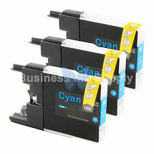 3 CYAN LC71 LC75 Compatible Ink Cartridge for Brother LC75C HIGH YIELD LC71C