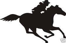 Cowboy On Running Horse Decal Car Or Wall Decor
