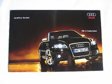 Audi RS4 Cabrio Katalog Prospekt 2007 B7 Cabriolet RS 4 catalogue brochure