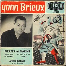 """YANN BRIEUX """"PIRATES ET MARINS"""" 50'S EP DECCA 450.650"""