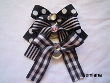 Jemlana's handmade dog,cat,pet grooming bows ( Set of 3 bows )