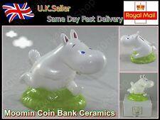 New Moomin Coin Bank Piggy Bank Ceramics Form Japan Kato crafts Height 14.5cm