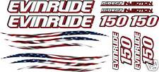 LG EVINRUDE Outboard motor decal kit - ALL ENGINE SIZES - Flag graphic