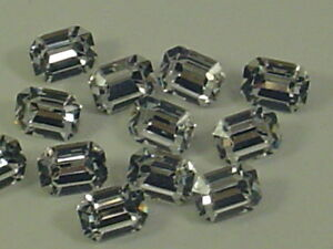 12pcs.8X6mm CRYSTAL OCTAGON FOILED POINTED BACK swarovski
