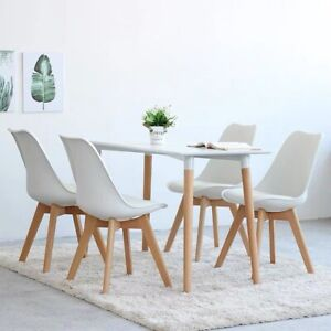 Classical Minimalist design Dining Table and Chairs Set,Retro Kitchen wooden set