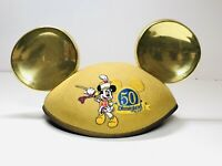 2005 50th Anniversary Disneyland Resort Mickey Mouse Golden Gold Ears Adult Hat