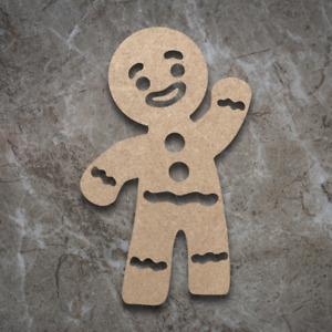 Large MDF Gingerbread Man Craft Wooden Shape Blank Wood 20 30 40cm Unpainted