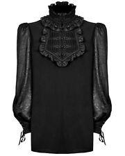 Camicie casual e maglie da uomo nero aderente con colletto