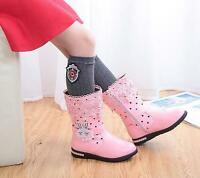 New Winter Kids Baby Girls Lace Diamante Shoes Winter Warm Snow Boots High Boots