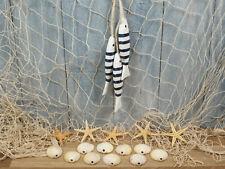 Deko Fischernetz 1x2m beige,5 Seesterne,10 Muscheln,3 Fische b/w maritim Deko