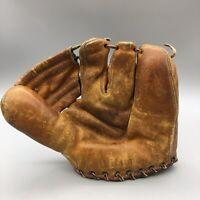 1950s Wilson Leather Baseball Glove 3 Finger Fielders Mitt Jim Busby Vintage G27