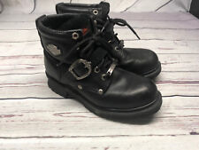 Harley Davidson Faded Glory Black Leather Motorcycle Riding Boots 81024 Women6.5