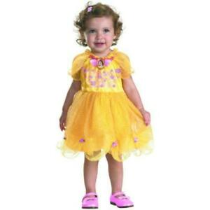 Belle Yellow Girls Toddler Dress Cartoon Characters SZ 12-18 MO Solid