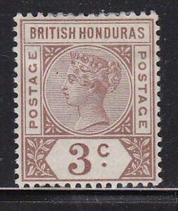 Album Treasures British Honduras Scott # 40  3c  Victoria  Mint Hinged