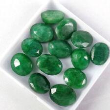 100 Ct./18 Pcs Natural Oval Cut Colombian Loose Green Emerald Gemstones Lot