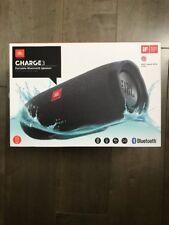 JBL Charge 3 Waterproof Portable Bluetooth Speaker - BLACK BNIB