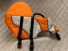 Top Paw Clown Fish DFD Dog Flotation Device Orange Large Novelty Life Preserver